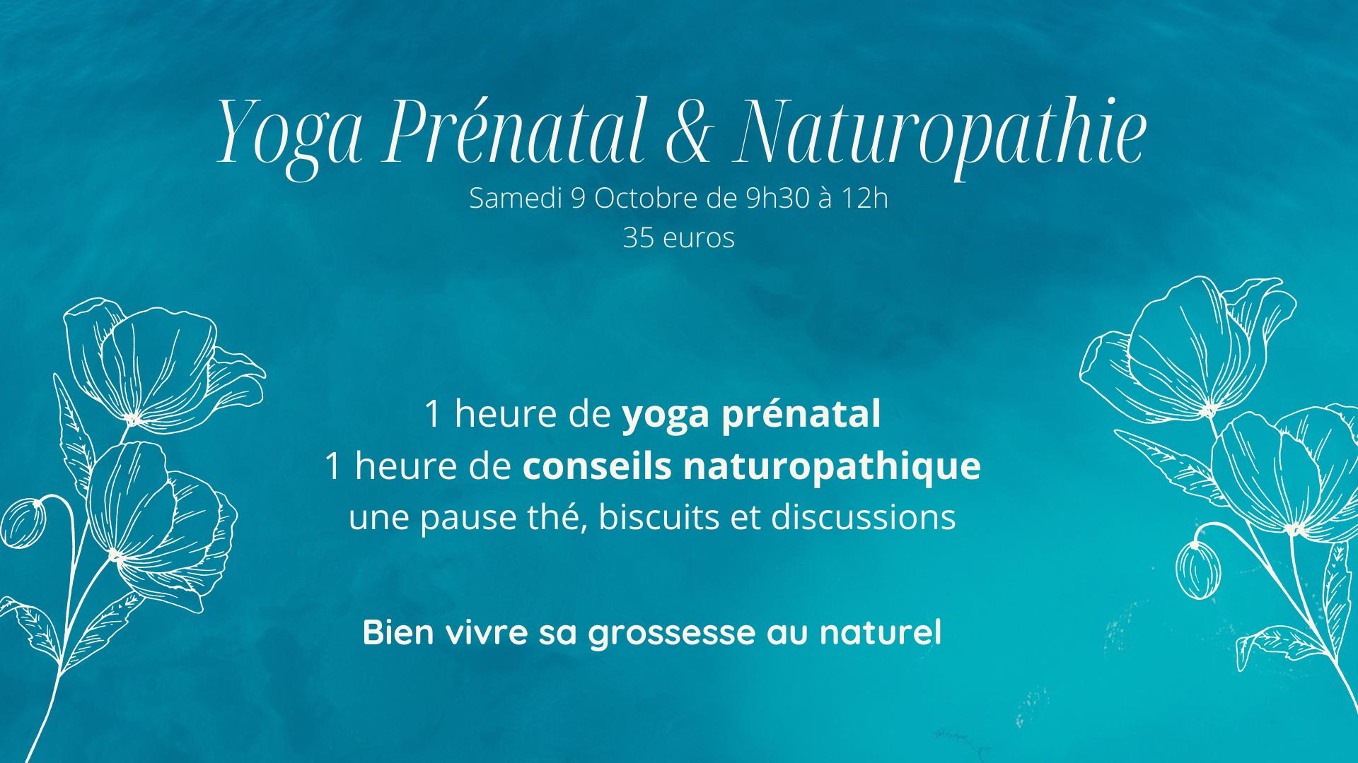 Atelier Yoga prénatal et naturopathie